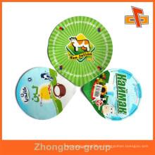 Trozos de troquel de calidad alimentaria tapas de aluminio para copas de yogur