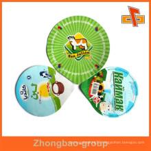 food grade die cut pieces aluminum foil lids for yogurt cups