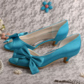 Aqua+Blue+Low+Heel+Shoes+for+Wedding