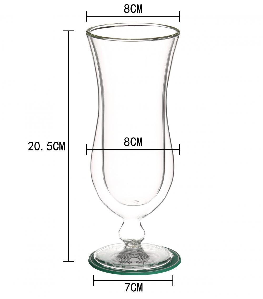 New Design Custom Double Glass Beer Cup