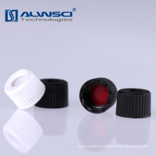Black 8mm screw cap with silicone septa for 2ml HPLC vial