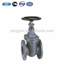 Norma de hierro fundido DIN dn100 pn10 válvula de compuerta asiento de metal válvula de vástago no ascendente