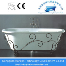 China for China Clawfoot Bathtub,Acrylic Clawfoot Bathtub,Antique Style Clawfoot Bathtub Supplier Oval massage bathtub classical bathtub export to United States Exporter