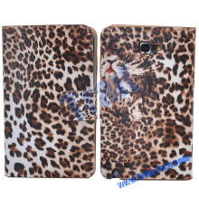 Leopard Leather Slim Pouch Case Cover Holster for Samsung Galaxy Note GT-N7000 i9220(Coffee)