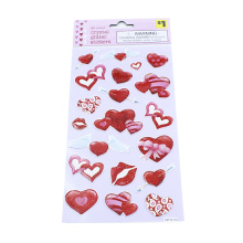 Creative Kids DIY Bronzing Stamping Diamond Lips Stickers Scrapbook Sticky Notes Decoration Children Classic Toys Stickers