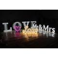 Letras y números de bulbos de decoración para publicidad