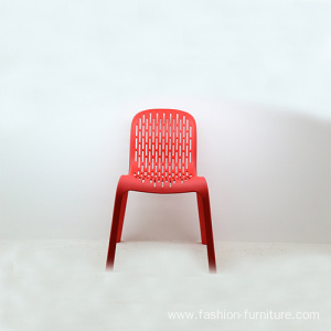 Dining room red stacking outdoor plastic chair