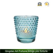Porte-bougie imprimé Tealight Fabriqué en verre