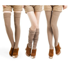 Frauen-Dame Cotton Kabel doppelte Nadel Socken Strümpfe (TA204)