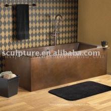 Bañeras de cobre rectangulares antiguos para el hotel