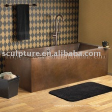 antique rectangle copper bathtubs for hotel