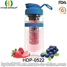 Popular Portable Plastic Fruit Infusion Bottle, 32oz BPA Free Tritan Fruit Infuser Water Bottle (HDP-0522)