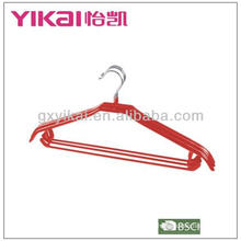 2013 New style PVC Coated metal shirt hanger with trousers bar
