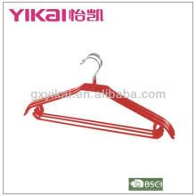 PVC revestido metal cabide camisa