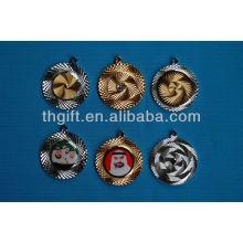 Monnaie commémorative de forme ronde de haute qualité sans couleurs