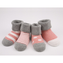 Baby′s 100 Cotton Loose Cuff Terry Socks
