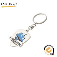 Diseño especial Debossed Logo Metal Keychain con dos colores (Y03788)