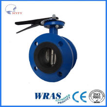 Top quality in different color stainless steel din male/nut butterfly valve