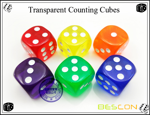Transparent Counting Cubes