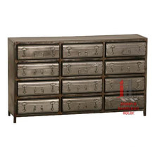 Iron Suitcase Drawers SideBoard