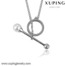 collier-00207-collier de perles de déclaration de bijoux en acier inoxydable de la mode jeune