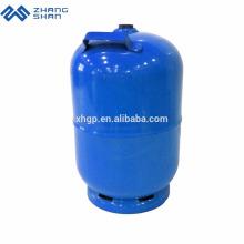 Cilindro de gás de cozinha descartável de hélio usado com queimador e grelha juntos