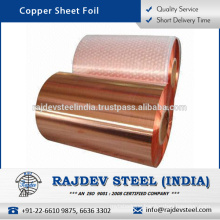 Enhanced Quality Copper Sheet Foil at Wholesale Rate