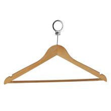 Cintre à vêtements en bois avec crochet en métal