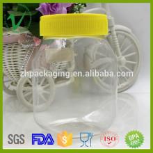 PET высококачественная прозрачная квадратная пустая 500 г пластиковые бутылки для меда для продажи