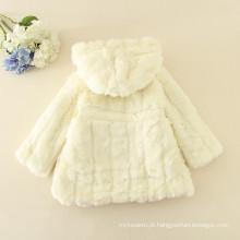 Casacos peludos crianças venda quente roupas cremosas princesa do bebê meninas moda peles de manga longa crianças jaquetas de inverno peles de alta qualidade
