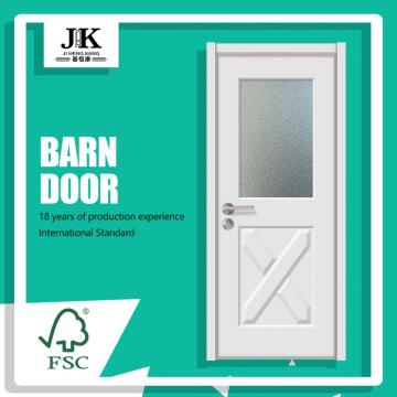 JHK-G14 China Solid Wood Doors With Glass House Designs