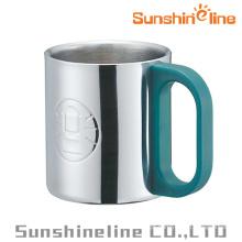 Parede dupla inox vácuo isolamento caneca de café