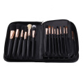 PU Makeup Brush Organizer Holder Pouch with Flap