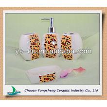 Сексуальный леопардовый принт санитарный керамический фарфор для ванной аксессуары для дам