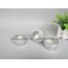100g de alumínio cosméticos empacotar jar com Scew Window Cap (PPC-ATC-003)