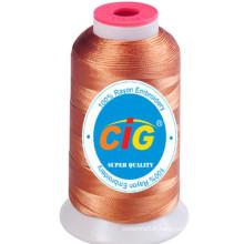 100 % rayonne embroidery thread 150D/2