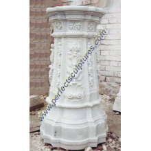 Stone Granite Marble Pedestal for Garden Decoration (BA003)