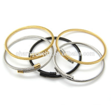 Fashion New Arrived Twisted Simple Cheap Stainless Steel Bangle Bracelet GSL006