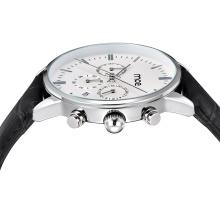 Clásico simple diseño personalizado cronógrafo Qaurtz hombre relojes
