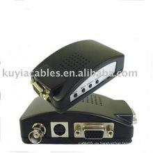 PCAV / S Video BNC a convertidor VGA Caja Adaptador de TV