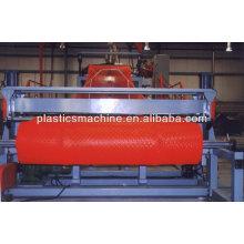 plastic safety warning mesh machine