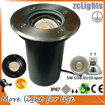 Feux de terre à LED ajustable à 5W pour paysage avec GU10 Lampes à LED remplaçables