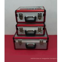Hermoso de alto grado de aleación de aluminio caso del instrumento (con muchos tamaños)