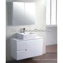 2 двери и 2 ящика белая ванная комната тщеславие