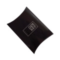 Delicate Shiny Black Glossy Pillow Paper Box