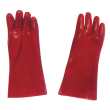 Professional Industrial Working Labor Safety Red PVC Gloves