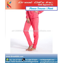 Soft shell women trouser made by fleece cotton fabric in high quality