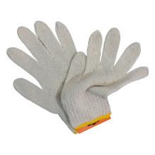 Luvas de algodão malha branca luva de trabalho de segurança