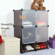 Cbinet de almacenamiento de plástico marrón con muchos colores disponibles (FH-AL0518-4)
