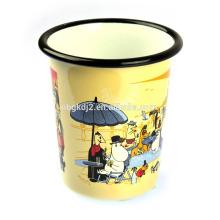 Caneca de copo de esmalte de alta qualidade com borda laminada para o mercado europa Tumbler Caneca